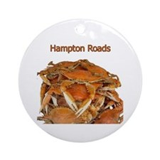 Hampton Roads Crabs Ornament (Round)