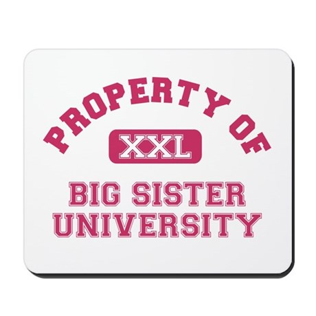 big sister shirts university Mousepad