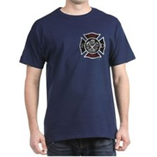 """Maltese white & red"" Navy or Black T-Shirt"