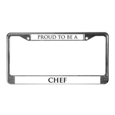 Proud Chef License Plate Frame