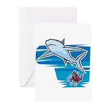 SHARK (18) Greeting Cards (Pk of 10)