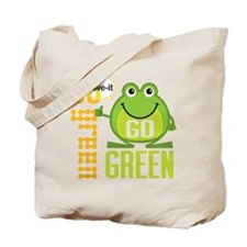 Go Green Frog Tote Bag