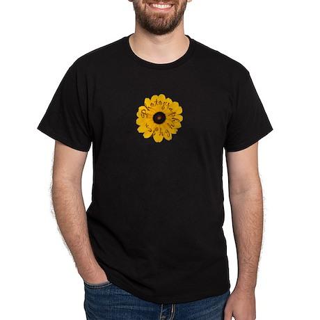JenPics Flower Logo Black T-Shirt
