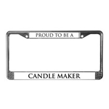 Proud Candle Maker License Plate Frame