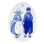Dutch Boy Oval Ornament