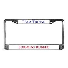 Team Trojan License Plate Frame