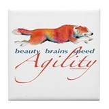 Beauty, Brains and Speed Tile Coaster