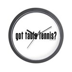 got table tennis? Wall Clock