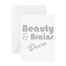 Beauty and Brains Greeting Card