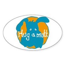 Hug a Mutt Logo Oval Decal