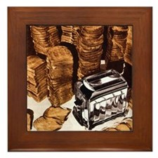 Stacks O' Toast Framed Tile