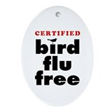 Bird Flu Free Oval Ornament