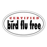 Bird Flu Free Oval Decal
