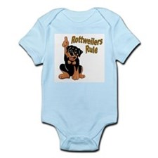 Rottweilers Rule Infant Creeper