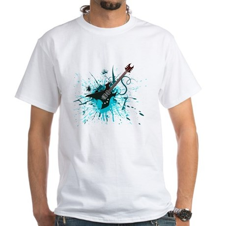 Graffiti Guitar White T-Shirt