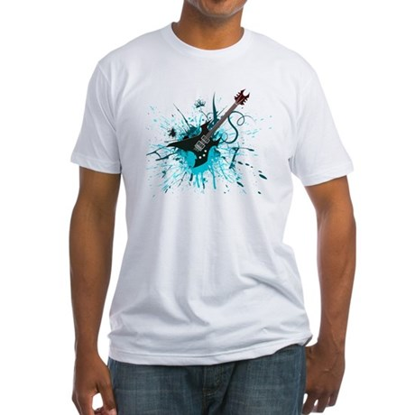 Graffiti Guitar Fitted T-Shirt