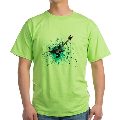 Graffiti Guitar Green T-Shirt