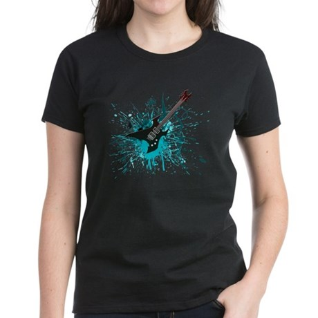 Graffiti Guitar Women's Dark T-Shirt