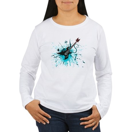 Graffiti Guitar Women's Long Sleeve T-Shirt