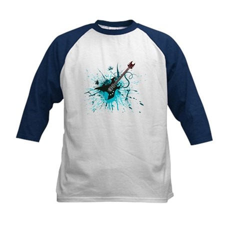 Graffiti Guitar Kids Baseball Jersey