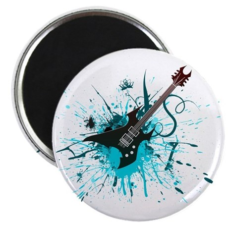 Graffiti Guitar Magnet