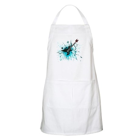 Graffiti Guitar BBQ Apron