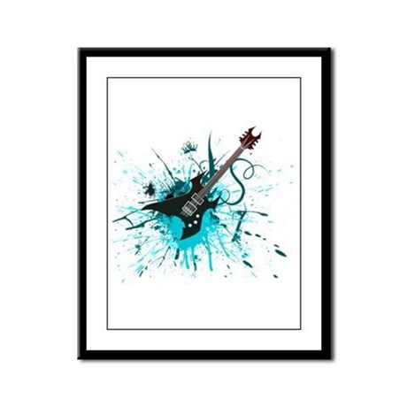 Graffiti Guitar Framed Panel Print