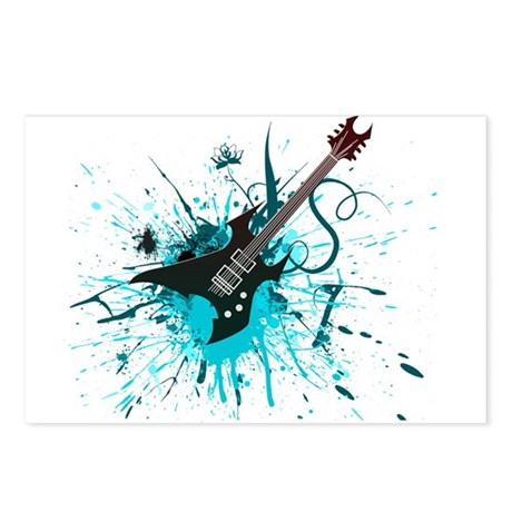 Graffiti Guitar Postcards (Package of 8)