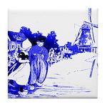 Blue Dutch Children Tile