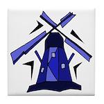 Blue Dutch Windmill Tile