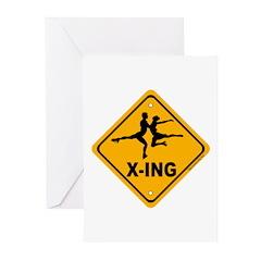 Figure Skate X-ing Greeting Cards (Pk of 10)