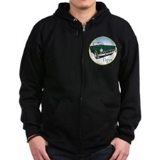 The Green Tiger Zip Hoodie