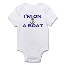 im on a boat blue Body Suit