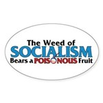 The Wead of Socialism Oval Sticker (50 pk)