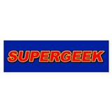 SUPERGEEK (Bumper Sticker)