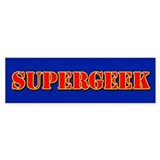 SUPERGEEK (Bumper Sticker) #2