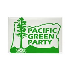 Unique Green party Rectangle Magnet