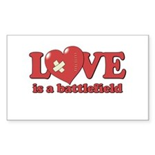 Love is a Battlefield Rectangle Decal