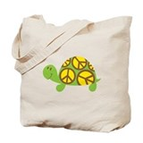 Peace Turtle Tote Bag