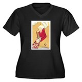 Teach the Children Women's Plus Size V-Neck Dark T