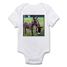 Baby Miniature Donkey & Mom Infant Creeper