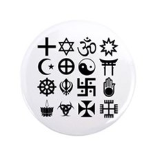 Coexist 3.5 inch Buttons 100 pack