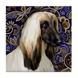 AFGHAN HOUND DOG Tile Coaster