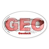 Geoduck Oval Decal