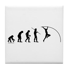 Pole Vault Evolution Tile Coaster