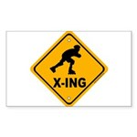 Roller Blade X-ing Rectangle Sticker 50 pk)