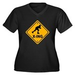 Roller Blade X-ing Women's Plus Size V-Neck Dark T