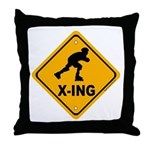 Roller Blade X-ing Throw Pillow