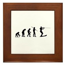 Water Ski Evolution Framed Tile