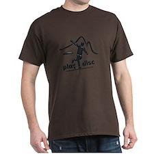 Disc Golf Launch Graphite T-Shirt